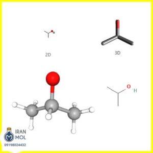 ساختار مولکولی ایزوپروپیل الکل